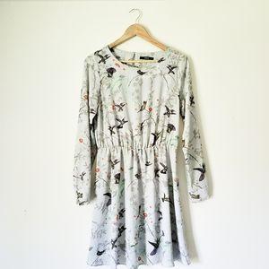Oasis Hummingbird Print Skater Dress